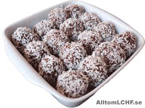 Ett recept på LCHF chokladbollar utan vanligt socker
