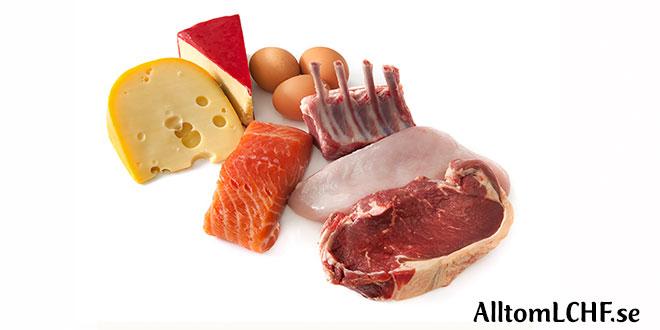 lchf kolhydrater per 100 gram