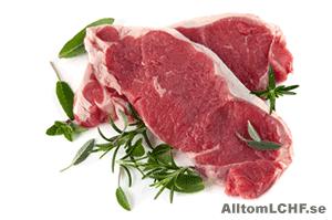 Kött är mat som passar bra när du äter LCHF