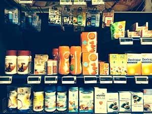 Det finns många sötningsmedel att välja på i affären