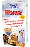 Fibrex kan användas istället för havregryn eller i LCHF-bakning