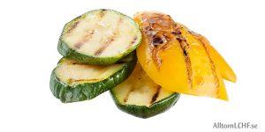 Grillade grönsaker gott till LCHF-maten